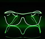 Окуляри NEON прозорі El Neon ray green + Годинник, фото 4