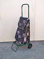 Посилена господарська сумка візок на колесах з підшипниками Полуниця коричневий (0084)
