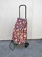 Усиленная хозяйственная сумка тележка на колесах с подшипниками (0106)