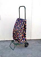 Усиленная хозяйственная сумка тележка на колесах с подшипниками (0108)