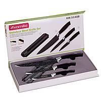 Набір кухонних ножів Kamille на магнітній смужці 4 предмета (3 ножа+тримач) KM-5148B
