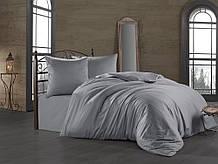 Комплект постельного белья Zugo Home сатин однотонный Silver евро серебро (ts-01875)