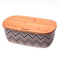 Хлебница Kamille Орнамент из бамбукового волокна 36см KM-1130