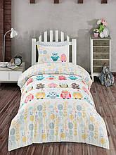 Комплект постельного белья Zugo Home ранфорс Owl полуторный (ts-01863)