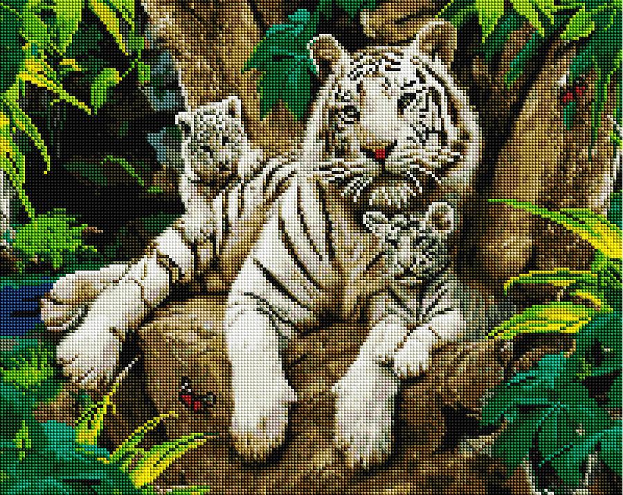 Семья белых тигров