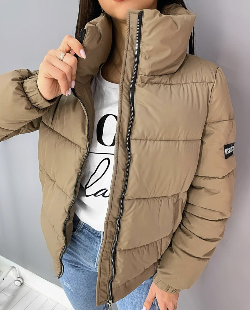 Стильная теплая женская куртка на силиконе в расцветках (Норма)