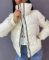Стильная теплая женская куртка на силиконе в расцветках (Норма), фото 4