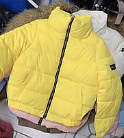 Стильная теплая женская куртка на силиконе в расцветках (Норма), фото 6