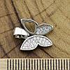 Серебряный кулон ТС540082б размер 17х13 мм вставка белые фианиты вес 1.15 г, фото 3