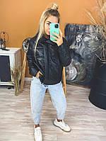 Жіноча стильна демісезонна куртка (Норма і батал), фото 3