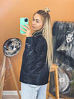 Жіноча стильна демісезонна куртка (Норма і батал), фото 4