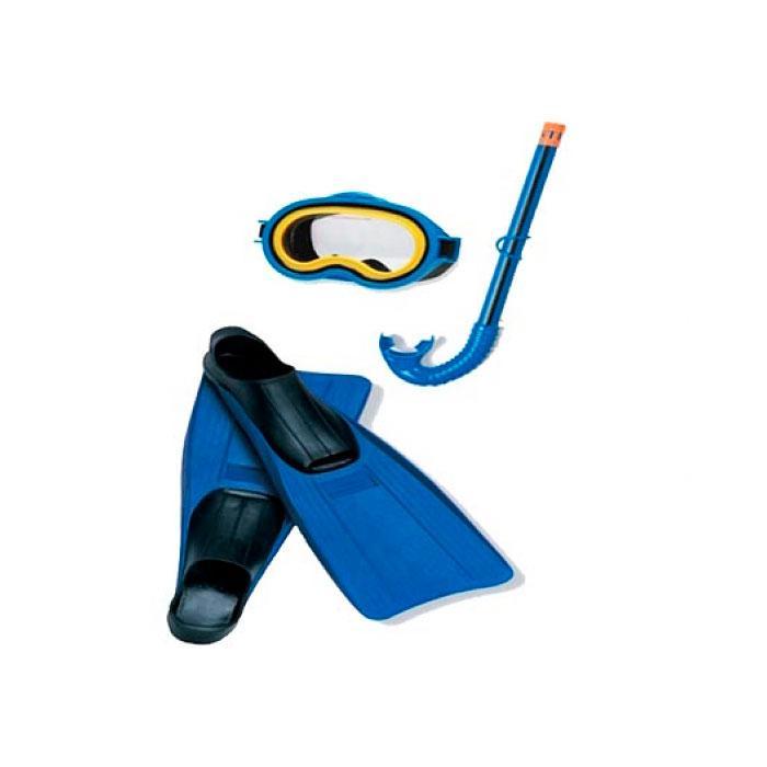 Набір маска + трубка + ласти Intex Junior Sport Set 55956