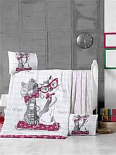 Комплект постільної білизни для немовлят Victoria Ранфорс Kittens