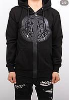 Модная мужская кофта с капюшоном и принтом -22627