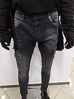 Крутые мужские джинсы с карманами - 20404K139-1 - Хит сезона! Новинка!