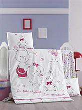 Комплект постільної білизни для немовлят Victoria Ранфорс Family