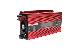 Преобразователь UKC авто инвертор 12V-220V 1000W LCD KC-1000D, фото 3