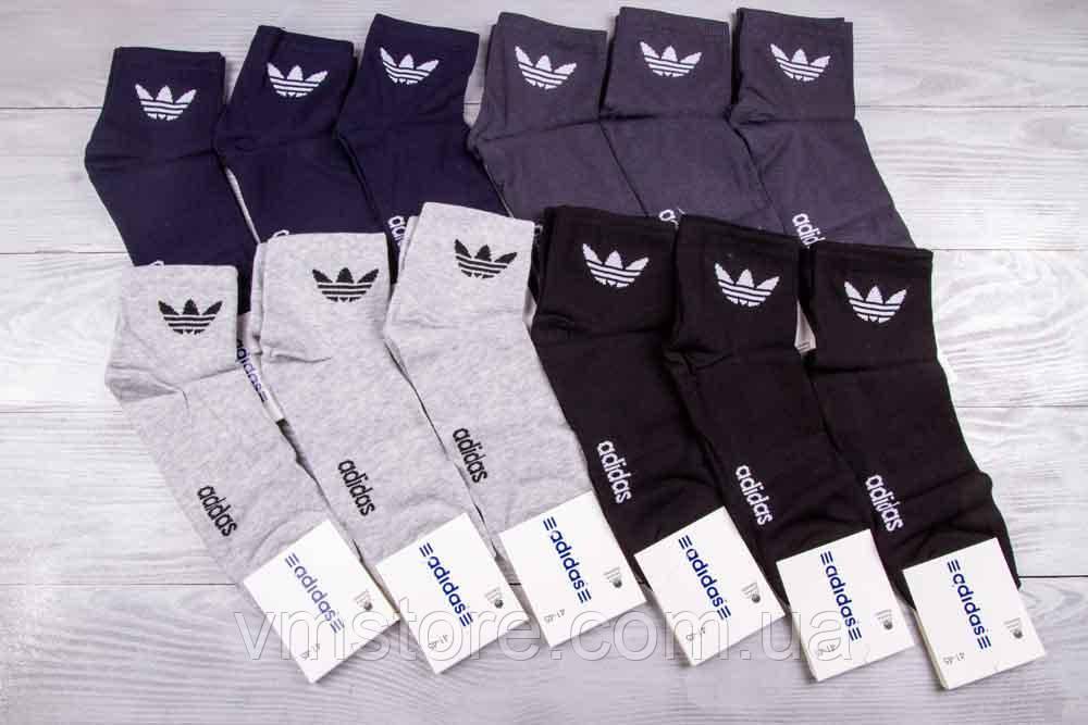 Шкарпетки чоловічі спортивні, в стилі бренду Adidas, упаковка 12 пар