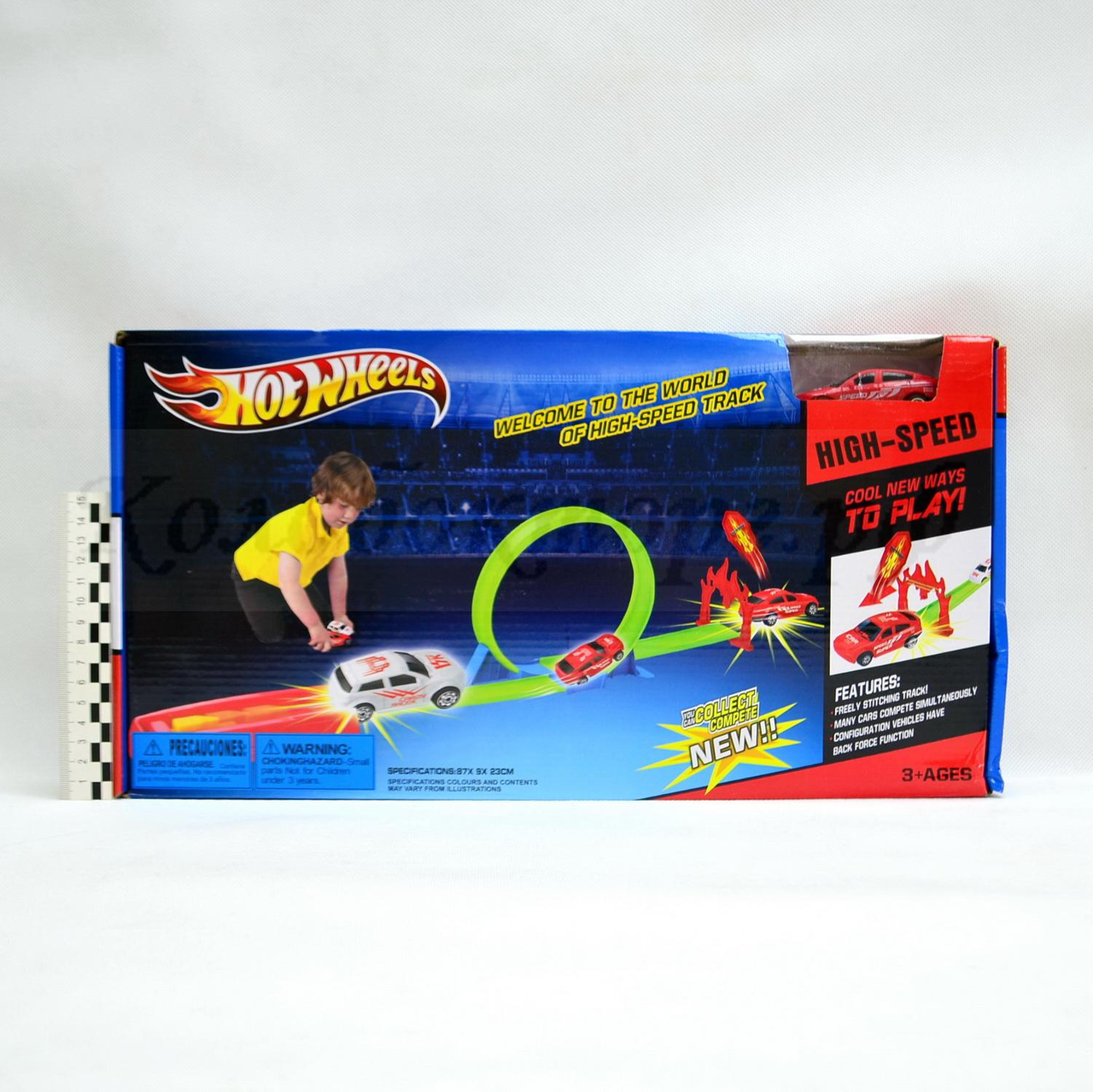 Детский трек запуск Хот Вилс | Hot Wheels HW201 (одна машинка)