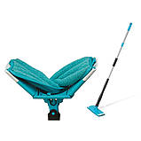Швабра лентяйка с автоматическим отжимом для быстрой уборки Titan Twist Mop Чудо швабра 360 Синяя титан моп, фото 6