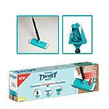 Швабра лентяйка с автоматическим отжимом для быстрой уборки Titan Twist Mop Чудо швабра 360 Синяя титан моп, фото 10