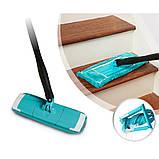Швабра лентяйка с автоматическим отжимом для быстрой уборки Titan Twist Mop Чудо швабра 360 Синяя титан моп, фото 5