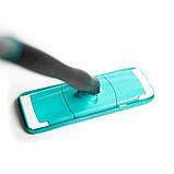 Швабра лентяйка с автоматическим отжимом для быстрой уборки Titan Twist Mop Чудо швабра 360 Синяя титан моп, фото 8