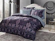 Комплект постельного белья Tac Bamboo Freja V01 lacivert полуторный синий (TAC60213471)