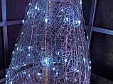 Ялинка металева з гірляндою, залізна, лофт, loft, живлення від мережі 220ВТ, 100 LED, 45 див., настільна., фото 4