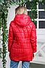 Весняна куртка- плащ Римма червоного кольору, фото 2