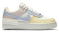 """Женские Кроссовки Nike Air Force 1 Low Shadow """"Unicorn"""" - """"Белые Фиолетовые Розовые Желтые"""", фото 1"""