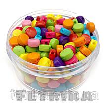 Бусины акриловые разноцветные Шайба 8 мм
