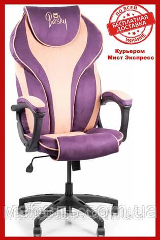 Геймерское компьютерное кресло Barsky Sportdrive Blackberry/Peach Fibre Arm_1D Synchro PA_designe BSDsyn-08., фото 2