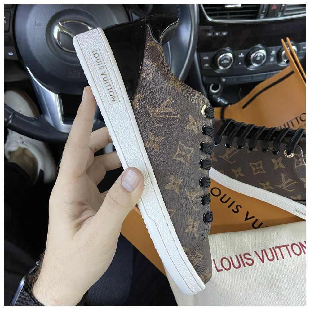 Женские кроссовки Louis Vuitton Sneakers Brown, кроссовки луи виттон сникерсы, жіночі кросівки Louis Vuitton