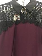 Платье верх кружево с брошью