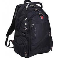 Износостойкий городской швейцарский рюкзак с AUX Swiss 8810 черный безопасный  рюкзак высокого качества Свизз