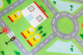 Коврики для детей на пол Городок (внутри поролон) ТМ-6, размер 200х150х1,5 см, фото 3