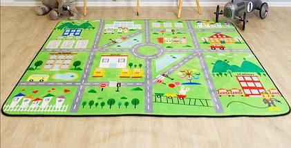 Коврики для детей на пол Городок (внутри поролон) ТМ-6, размер 200х150х1,5 см, фото 2