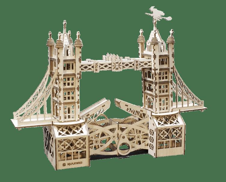 Mr.Playwood Деревянный 3D пазл Тауэрский мост (деревянный конструктор), 10401