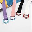 Текстильный ремень тканевый пояс белый черный пудровый розовый фиолетовый холщевый детский ремень, фото 7