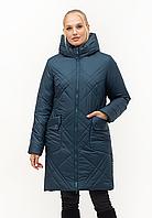 Модная женская куртка с капюшоном цвета малахит