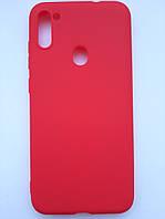 Чехол силиконовый SMTT для Samsung A11/М11 красный, фото 1
