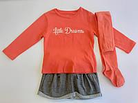 Комплект: Джемпер, юбка и колготы Losan Kids girls (526-8030AD/87) Светло-оранжевый 5 Years-110 см