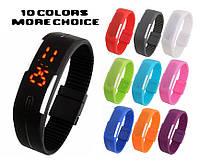 Спортивные наручные часы, оригинальный led-циферблат, из яркого силикона