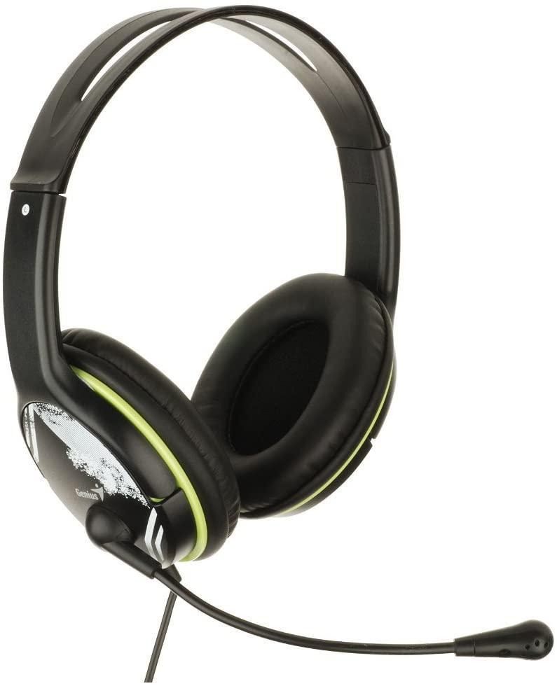 Наушники Genius HS-400A Headband PC Headset with Rotating Microphone Black-Green Витрина