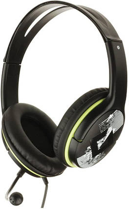 Наушники Genius HS-400A Headband PC Headset with Rotating Microphone Black-Green Витрина, фото 2