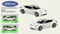 Машинка детская игрушечная WELLY Porsche Panamera белый