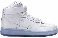 Кроссовки мужские Nike Air Force High, кроссовки найк аир форс высокие светло-сиреневые, обувь оригинал