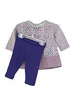 Костюм: Платье с леггинсами Losan Mc baby girls (028-8008AD/582) Светло-серый M9-74 см