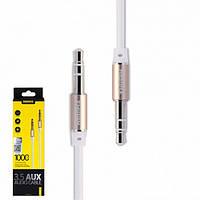 Аудіо кабель Remax AUX RL-L100 1m White